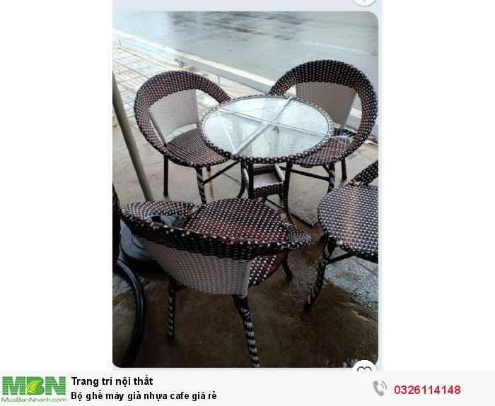 Bộ ghế mây giả nhựa cafe giá rẻ0