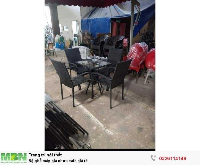 Bộ ghế mây giả nhựa cafe giá rẻ1