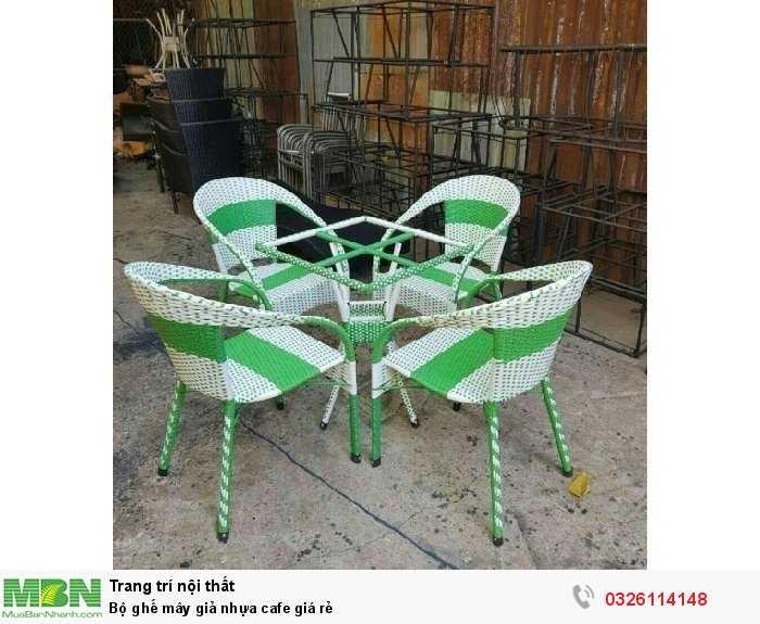 Bộ ghế mây giả nhựa cafe giá rẻ2