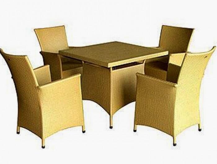bàn ghế cafe mây nhựa giá rẻ tại xưởng sản xuất HGH 13070