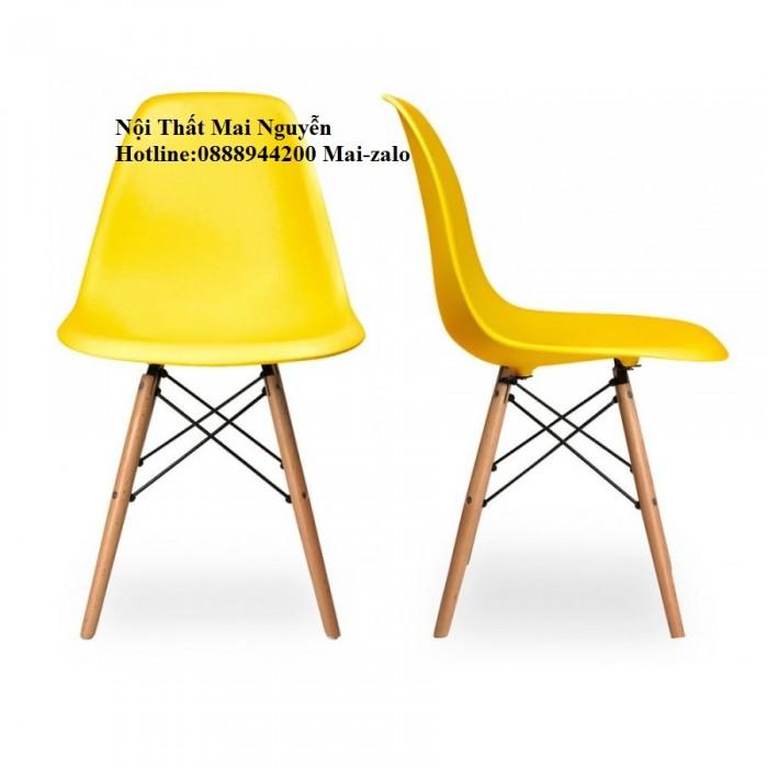 Thanh lý bàn ghế cafe,thanh lý ghế nhựa nhập chân gỗ giá rẻ2