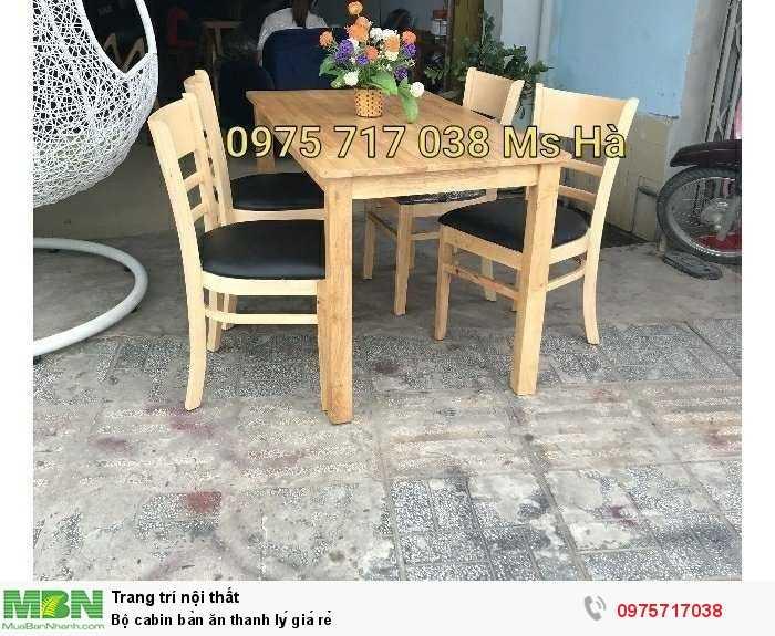 Bộ cabin bàn ăn thanh lý giá rẻ