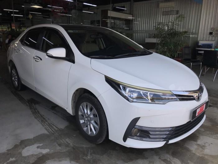 Bán xe Altis 1.8E AT, đời 2018, màu trắng  Odo 12530km ,