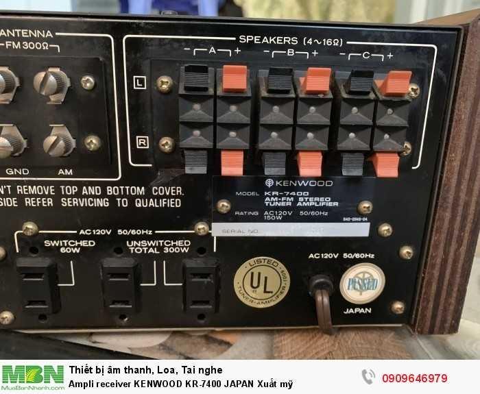 Ampli receiver KENWOOD KR-7400 JAPAN Xuất mỹ2
