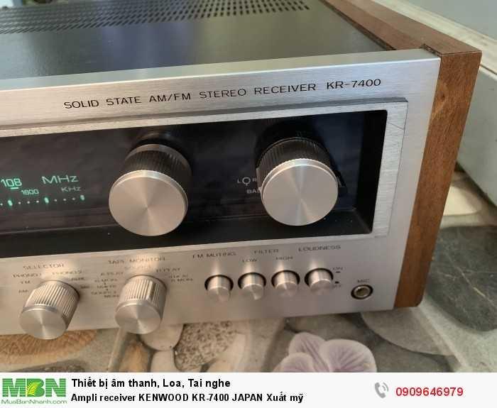 Ampli receiver KENWOOD KR-7400 JAPAN Xuất mỹ3