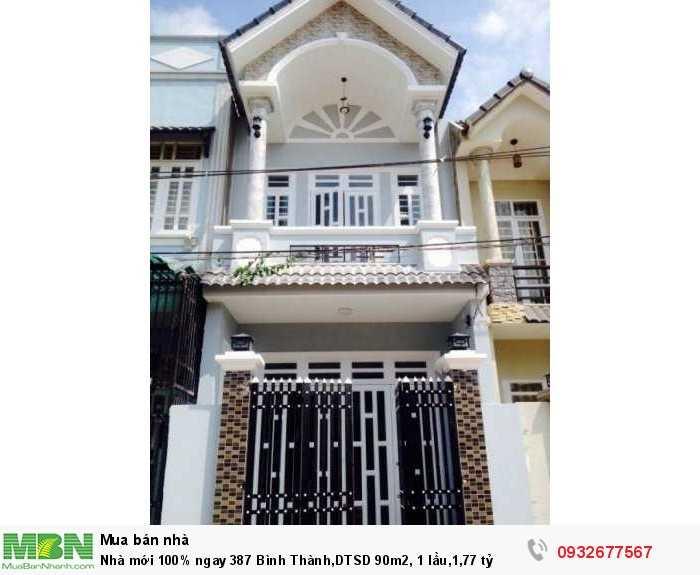 Nhà mới 100% ngay 387 Bình Thành,DTSD 90m2, 1 lầu,1,77 tỷ