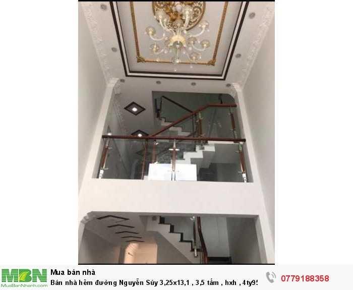 Bán nhà hẻm đường Nguyễn Súy 3,25x13,1 , 3,5 tấm , hxh , 4ty95 Tl