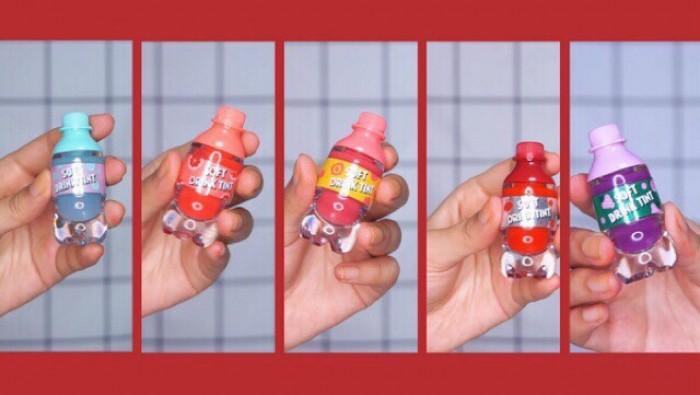 Sét Son Lì Trái Cây 5 Chai Soft DRink Tint15