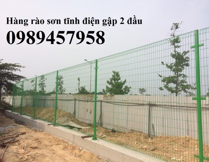 Hàng rào sơn tĩnh điện Phi 5 ô 50x150 và 50x200 giao hàng tận nơi2
