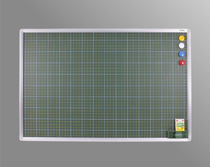 Bảng từ xanh viết phấn kẻ ô li Tiểu học Kích thước: 1000x1200mm - Kẻ ô li Theo Tiêu chuẩn bộ giáo dục và Đào tạo dùng cho học sinh Tiểu học luyện viết chữ đẹp - Kích thước mặt Bảng: H1000xW1200mm (H; Chiều rộng; W: chiều dài). - Mặt Bảng kẻ ô li như tập vở ô li Tiểu học (Kẻ 4 li ngang dọc, kích thước ô li 2,5x2,5cm) - Mặt bảng bằng tấm thép phủ sơn màu xanh dày 20 micromét theo tiêu chuẩn JIS G3312 của Hàn Quốc. - Lớp sơn bề mặt giúp người sử dụng có cảm giác viết thích như viết trên giấy, thậm chí viết được khi mặt bảng còn ướt và đặc biệt dễ dàng lau sạch mà không để lại vết phấn mờ như bảng thông thường. - Ngoài ra mặt bảng còn có khả năng hút từ mạnh giúp người dùng dễ dàng dùng viên từ để chặn giấy trên mặt bảng mà không cần phải dán như bảng thông thường. - Bề mặt xanh phủ sơn, viết bám phấn dễ dàng luyện nét chữ. - Dễ dàng xóa sạch với khăn ẩm.3