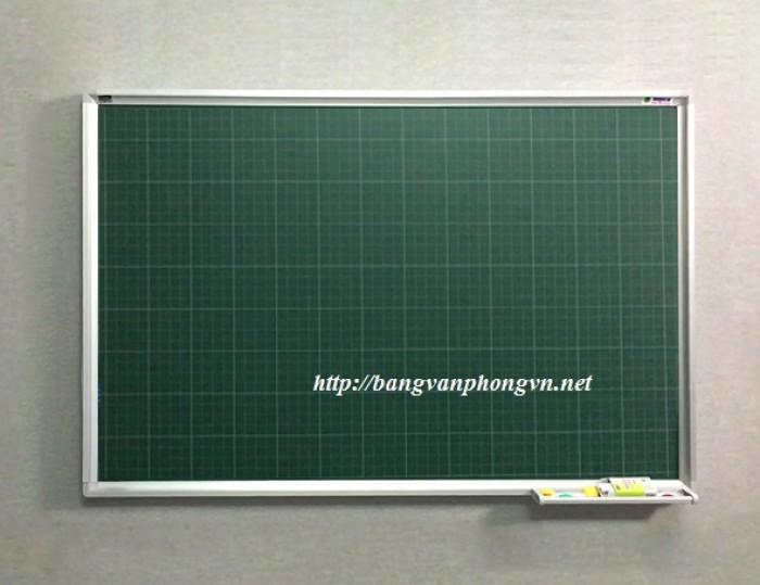Bảng từ xanh viết phấn kẻ ô li Tiểu học Kích thước: 1000x1200mm1
