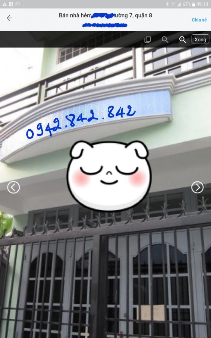 Nhà hẻm đường Phạm Thế Hiển,p7,Q8 ko ngập, ko quy hoạch, SHR