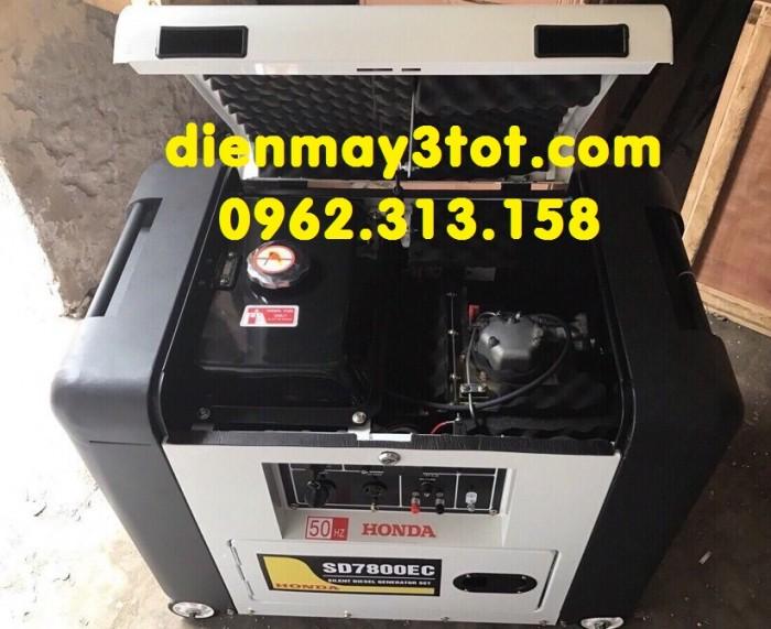 Máy phát điện 6kw chạy dầu Honda SD7800EC2