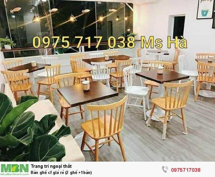 Bàn ghế cf giá rẻ (2 ghế +1bàn)