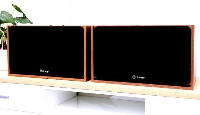 Loa Arirang Jant VIII Thiết kế và kết cấu thùng vân gỗ hoàn toàn mới, với lưới loa màu đen1
