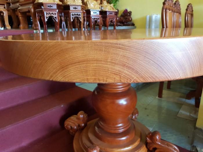 Mặt bàn ăn tròn nguyên tấm 1,2m x dày 12cm6
