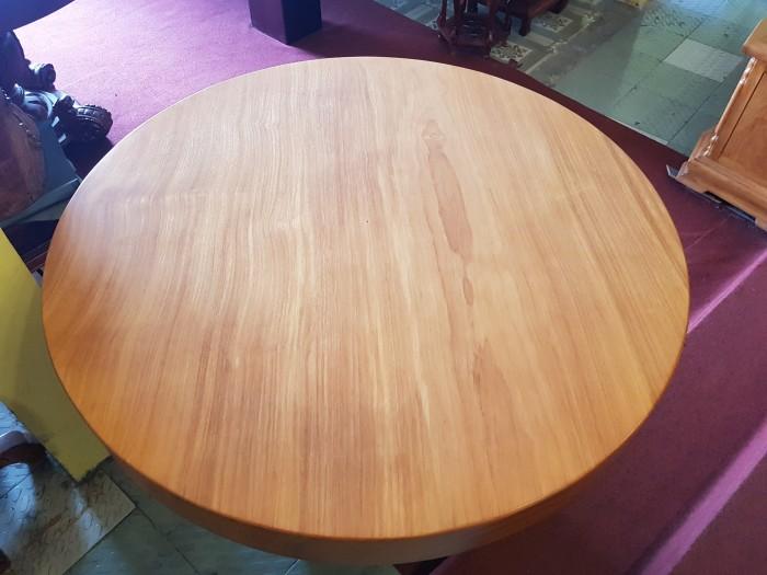 Mặt bàn ăn tròn nguyên tấm 1,2m x dày 12cm5