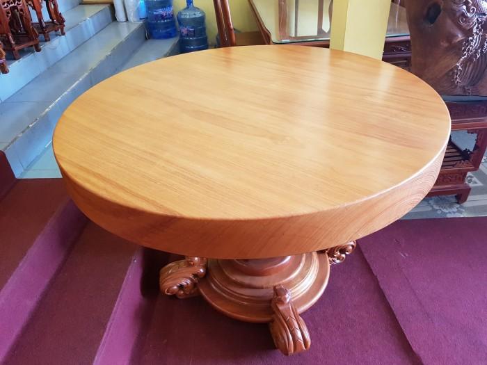 Mặt bàn ăn tròn nguyên tấm 1,2m x dày 12cm4