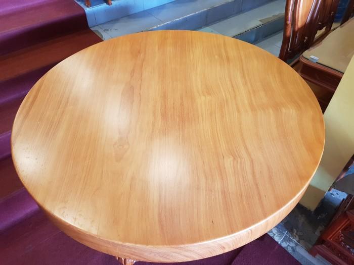 Mặt bàn ăn tròn nguyên tấm 1,2m x dày 12cm0