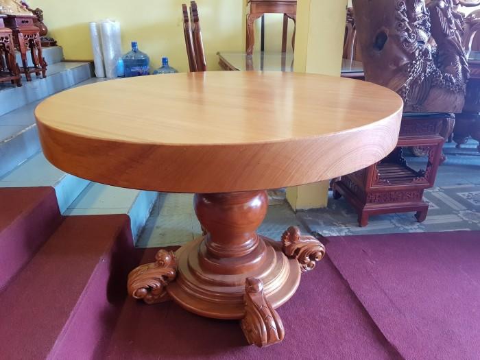 Mặt bàn ăn tròn nguyên tấm 1,2m x dày 12cm1