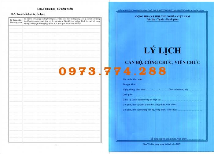 Lý lịch viên chức (mẫu 1a-bnv/2007)2