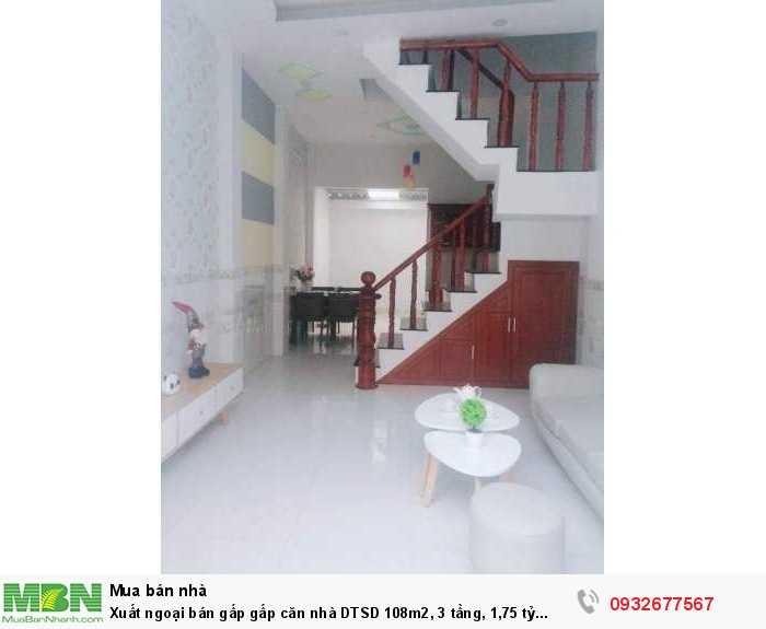 Căn nhà DTSD 108m2, 3 tầng, 1,75 tỷ