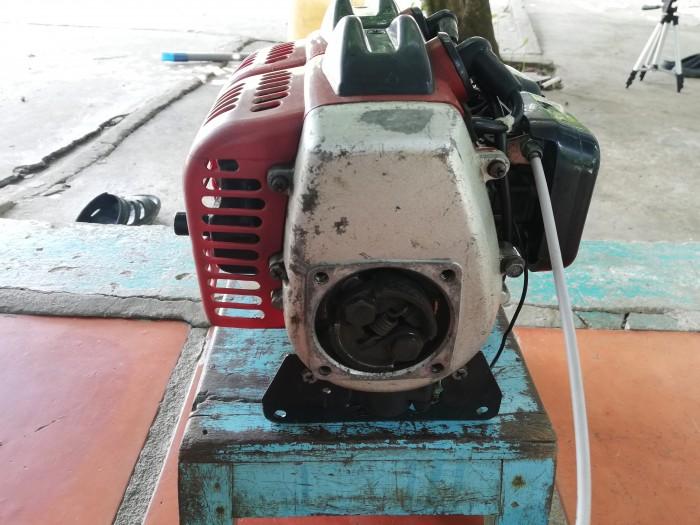 Đầu máy cắt cỏ 2 xi lanh tự chế2
