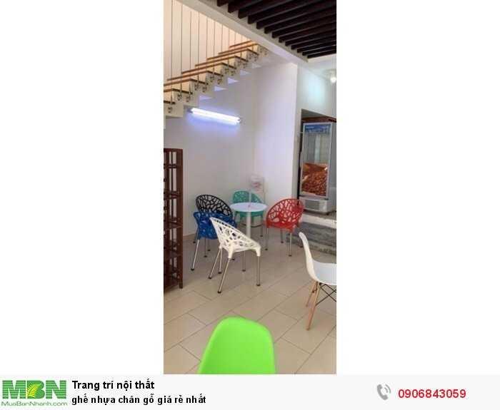 Ghế nhựa chân gỗ giá rẻ nhất1