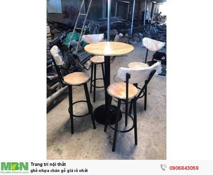 Ghế nhựa chân gỗ giá rẻ nhất