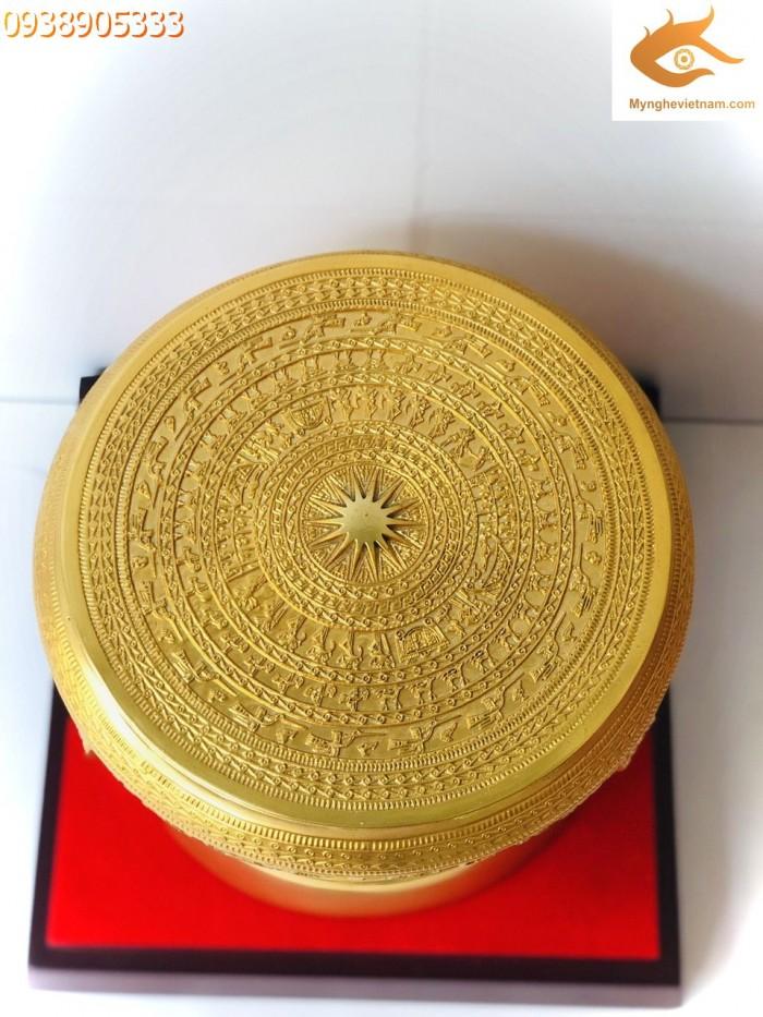 Quà Tặng trống đồng mạ vàng dk 20cm