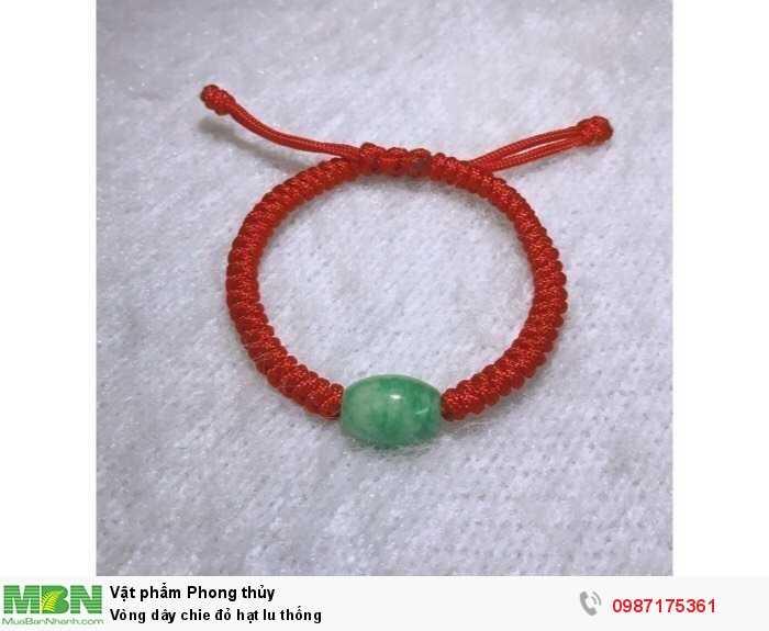 Vòng dây chie đỏ hạt lu thống0