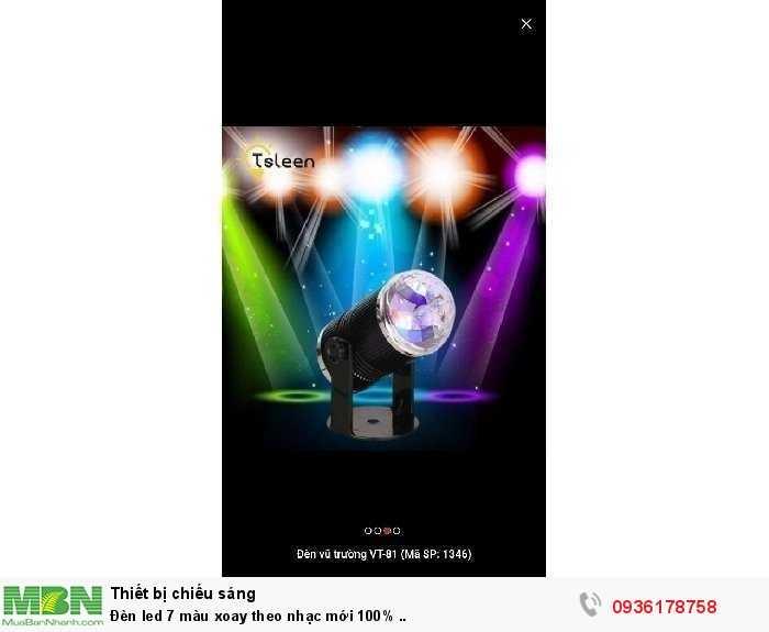 Đèn led 7 màu xoay theo nhạc mới 100% ..1