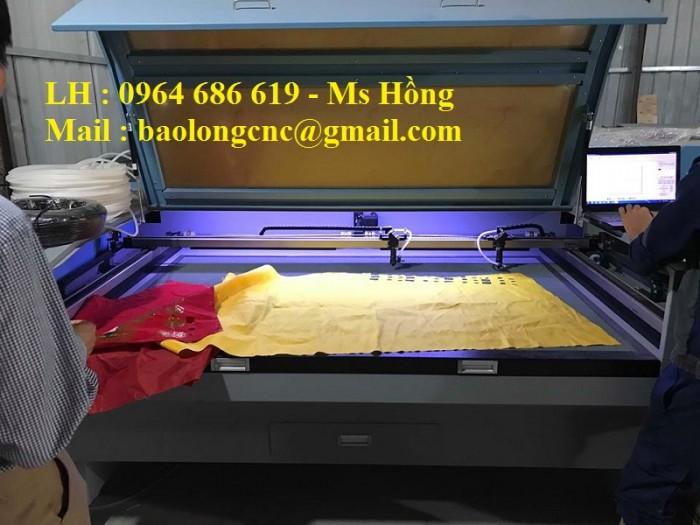 Máy laser cắt vải 2 đầu năng suất nhân đôi cho ngành dệt may3