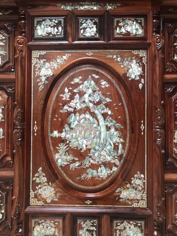 Tủ thờ cẩn ốc gỗ cẩm lai1