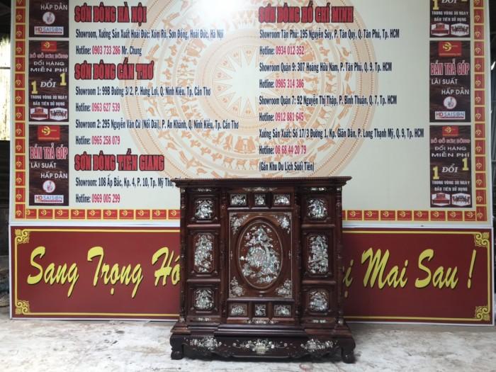 Tủ thờ cẩn ốc gỗ cẩm lai4