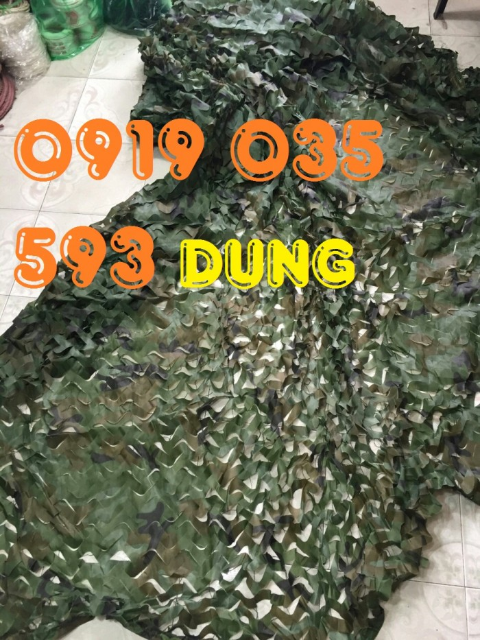 Lưới ngụy trang an toàn quân sự che phủ xe tăng pháo binh