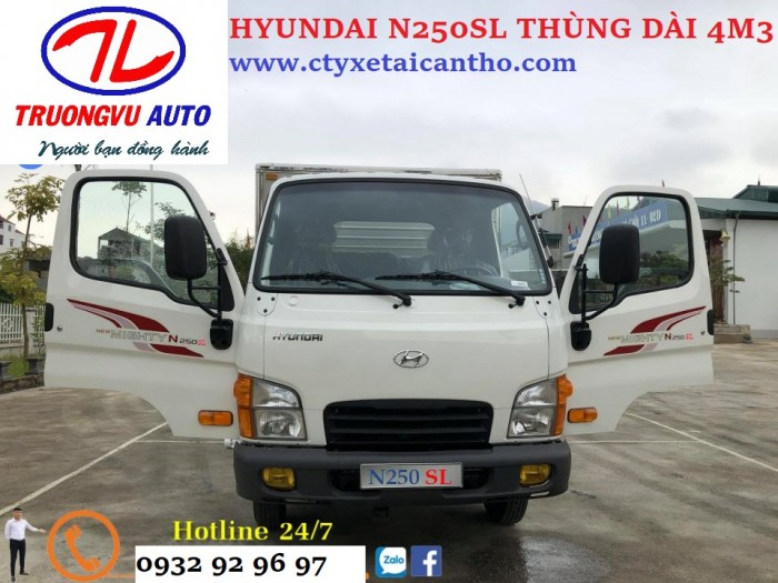 Hyundai n250sl Cần Thơ, HYUNDAI n250sl thùng dài m43 cần thơ, hyundai n250sl an giang