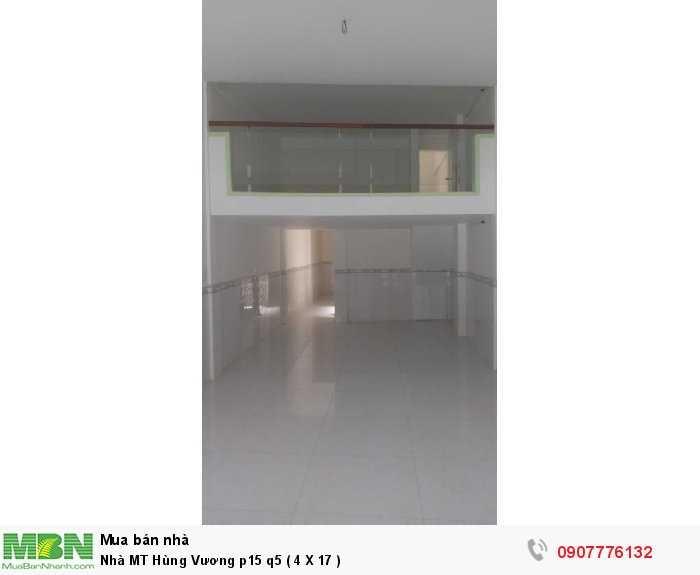 Nhà MT Hùng Vương p15 q5 ( 4 X 17 )