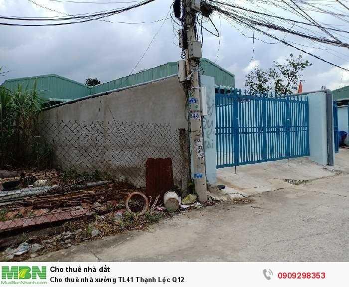 Cho thuê nhà xưởng TL41 Thạnh Lộc Q12