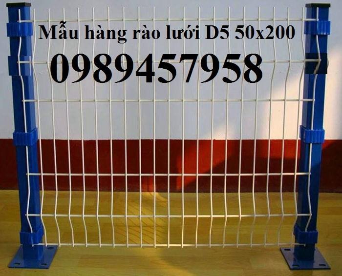 Sản xuất hàng rào sơn tĩnh điện  phi 5 ô 75x200, hàng rào mạ kẽm nhúng nóng ô 75x2003