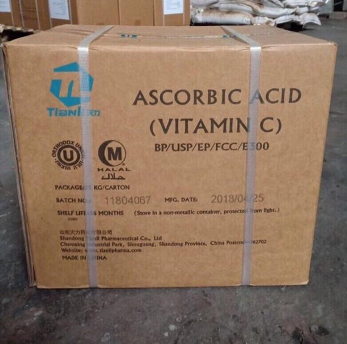Vitamin C nguyên liệu 99% cho ăn và tạt0