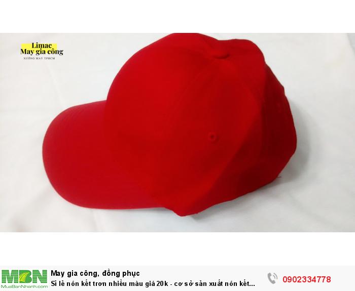 Sỉ lẻ nón kết trơn nhiều màu giá 20k - cơ sở sản xuất nón kết Limac