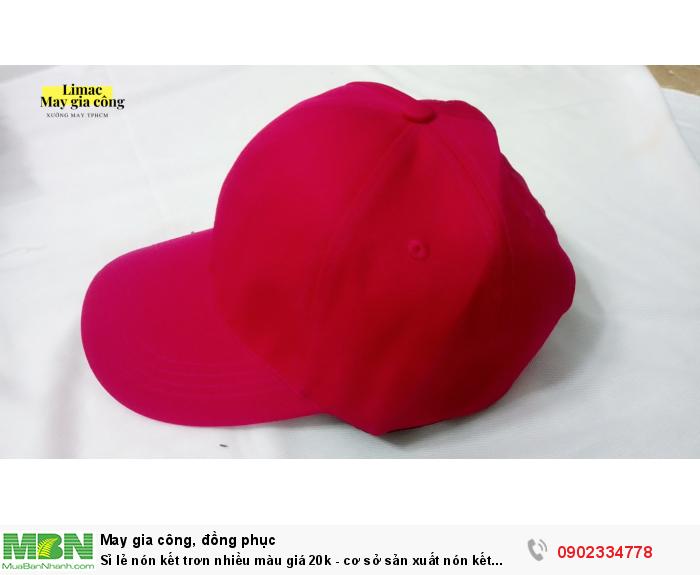 Cung cấp sỉ lẻ nón kết trơn nhiều màu giá 20k toàn quốc