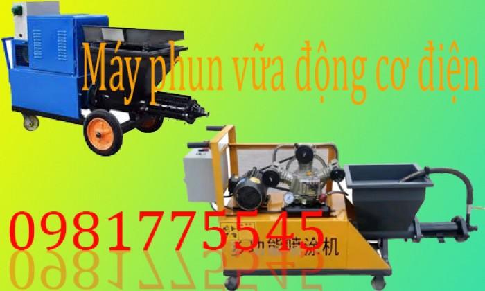 Máy phun vữa dùng trong xây dựng