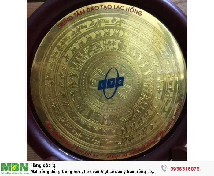 Mặt trống đồng Đông Sơn, hoa văn Việt cổ sao y bản trống cổ, trưng bày đẹp, mới 100%1