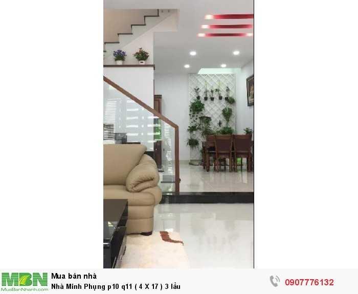 Nhà Minh Phụng p10 q11 ( 4 X 17 ) 3 lầu