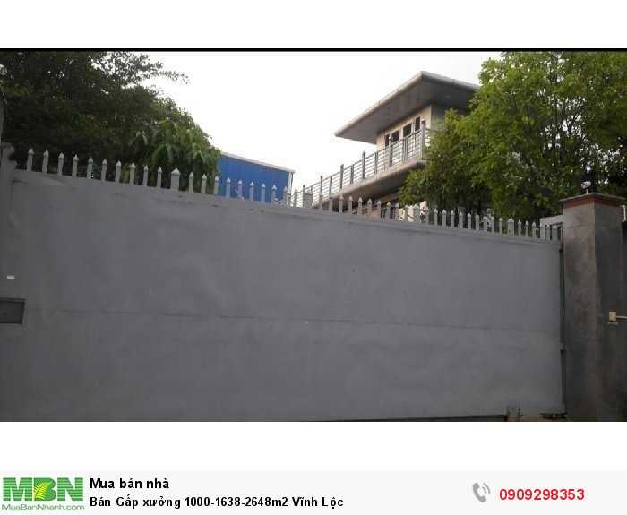 Bán Gấp xưởng 1000-1638-2648m2 Vĩnh Lộc