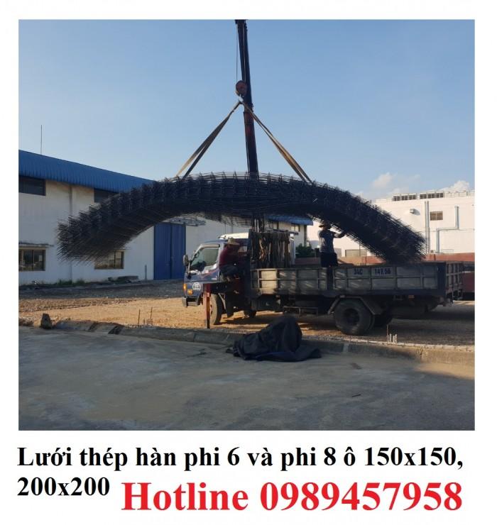 Lưới hàn chập phi 8 ô 200x200 lưới trơn, lưới gân giao hàng 3-5 ngày3