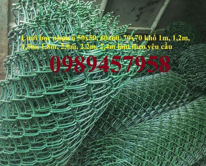 Lưới bọc nhựa b40 làm hàng rào, Lưới làm sân tennis, Lưới làm sân bóng6