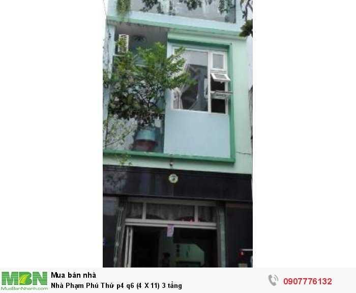 Nhà Phạm Phú Thứ p4 q6 (4 X 11) 3 tầng